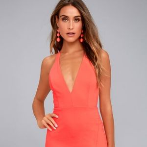 Lulu's Coral Cocktail Dress